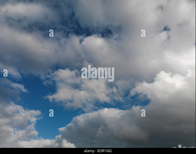 blue sky with clouds - Stock Image