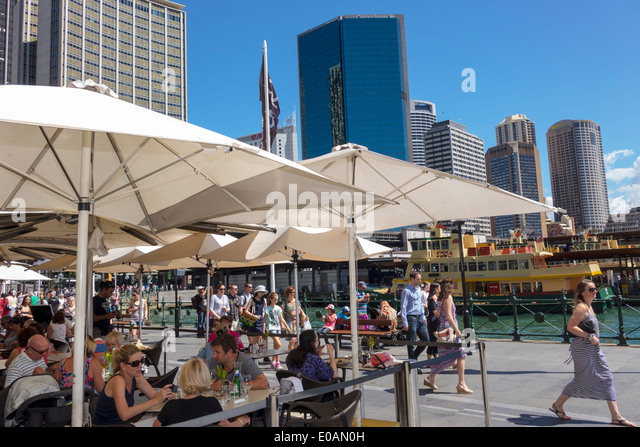 Sydney Australia NSW New South Wales CBD Central Business District city skyline skyscrapers Sydney Harbour harbor - Stock Image