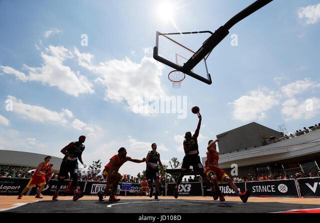 Tokyo, Japan. 17th June, 2017. Nyika Williams (DIME) Basketball : 33 PREMIER.EXE 2017 Season TACHIKAWA Eastrn Conference - Stock Image