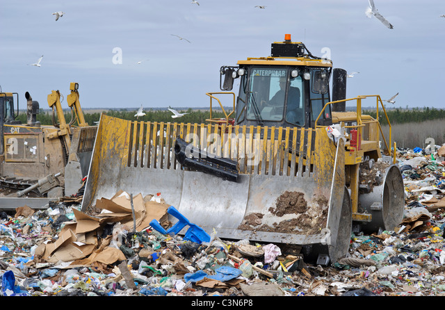 Regional waste management dump in New Brunswick Canada - Stock Image