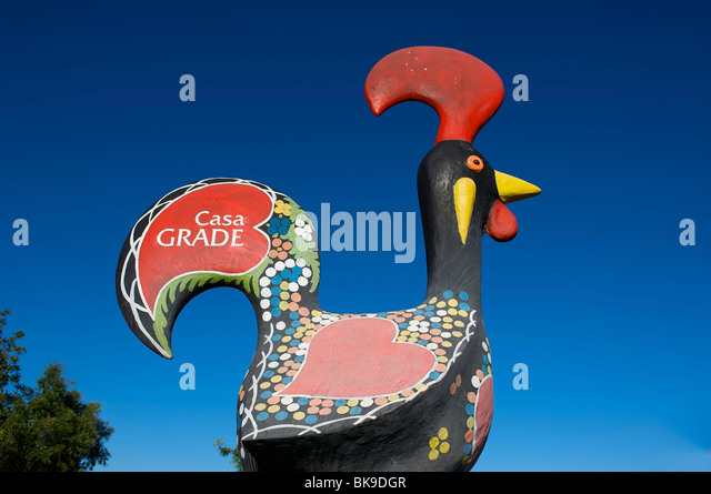 The rooster of Barcelos, Algarve, Portugal, Europe - Stock Image