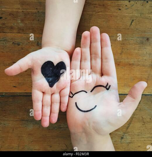 Love and happiness hands - Stock Image