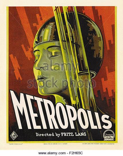 Metropolis 01 - Movie Poster - Stock Image