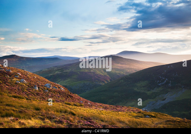 Evening in the Wicklow Mountains, County Wicklow, Ireland. - Stock-Bilder