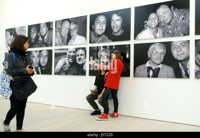 the selfie exhibition at the Saatchi gallery London England UK - Stock Image