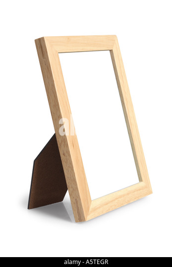 Picture Frame cut out on white background - Stock Image
