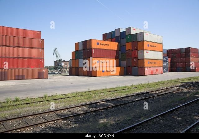 Container Shipping Rail Yard Stock Photos Container