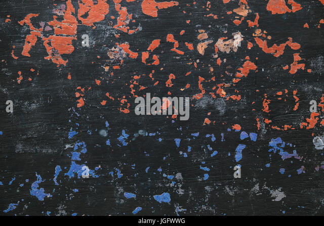 Non-traditional spectacular black background with paint elements, textures - Stock Image