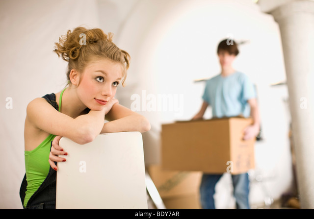 Removal; First love - Stock Image
