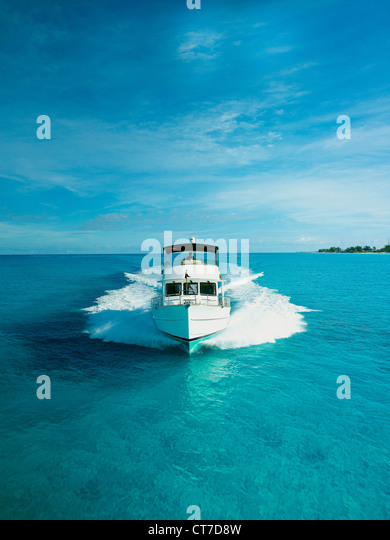 Power boat, front view - Stock Image