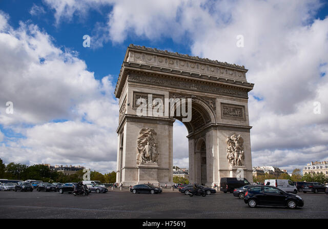 Arc de Triomphe, Paris France - Stock Image