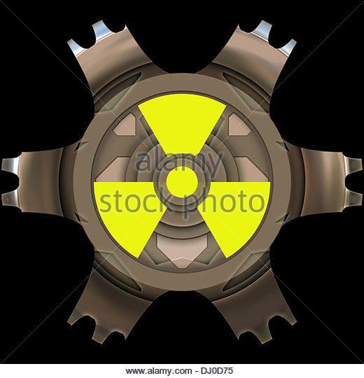 Radioactivity sign - Stock Image