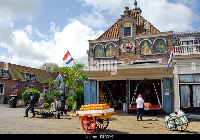 Cheese shop in the Town of Edam, Netherlands - Stock Image