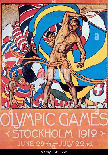 Olympic Games, advertising, 1912 - Stock Image