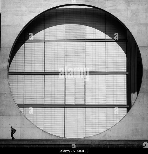 Big steel circle - Stock Image