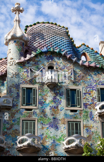 Casa Batllo, Barcelona, Spain - Stock-Bilder
