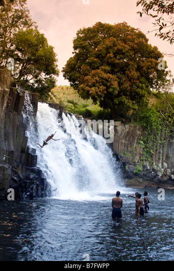 Rochester Falls in Mauritius Africa - Stock Image