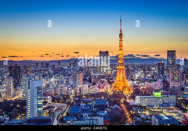 Tokyo, Japan City Skyline - Stock Image