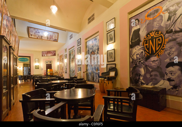 Hotel National Vedado, famous Bar , illustrious guests Portraits, Cuba - Stock Image