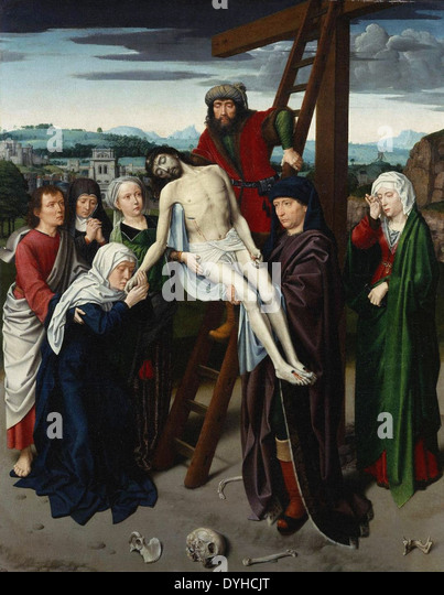 Gerard David The Deposition - Stock Image