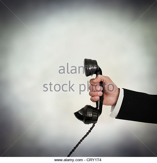 answer the phone - Stock Image