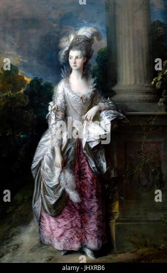 The Honourable Mrs. Graham, Thomas Gainsborough, circa 1776 - Stock Image