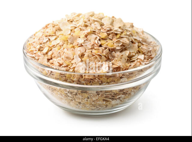bowl-of--multi-grain-flakes-isolated-on-