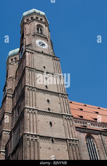 Munich frauenkirche - Stock Image