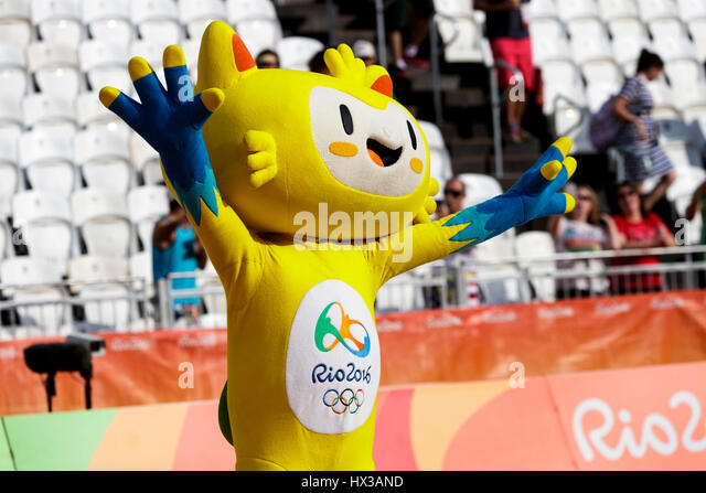 Rio de Janeiro, Brazil. 15 August 2016 Vinicius. mascot for the 2016 Olympic Summer Games. ©Paul J. Sutton/PCN - Stock-Bilder
