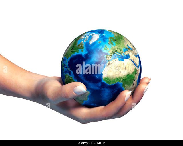 Protecting the environment conceptual computer artwork - Stock Image