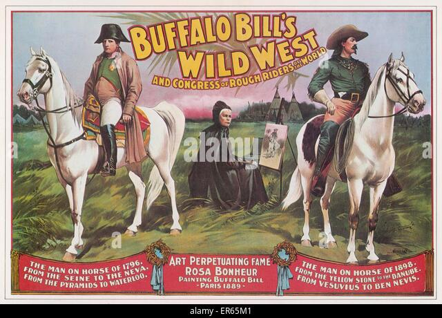 BUFFALO BILL'S WILD WEST SHOW Bill Cody's 'rough rider' extravaganza, featuring scenes of Napoleon, - Stock Image
