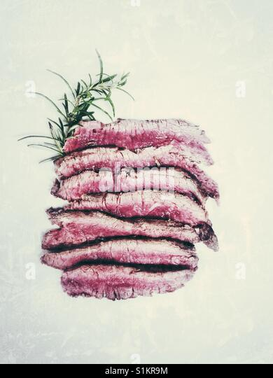 Tagliata beef flat lay - Stock Image