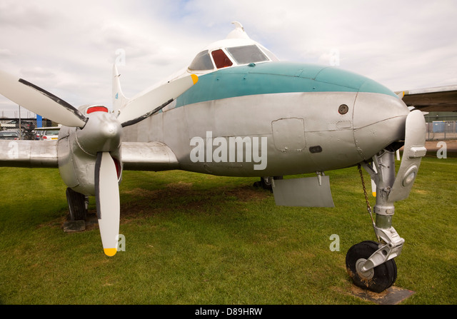 DeHavilland Dove aircraft at the Newark Air Museum - Stock Image