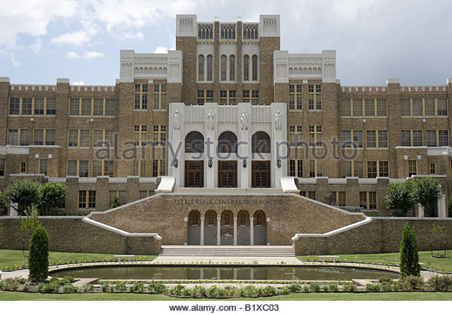 Little Rock Arkansas Central High School 1957 desegregation crisis Black History African American heritage Little - Stock Image