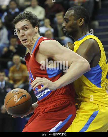 Euroleague basketball: CSKA Moscow 77 - 72 Maccabi Electra Tel Aviv - Stock Image