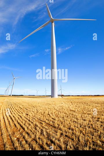A wind farm in rural South Australia - Stock Image