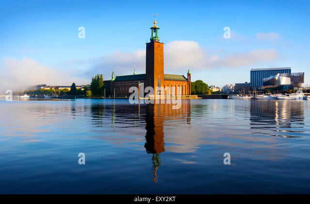 The city hall, Stockholm - Stock Image