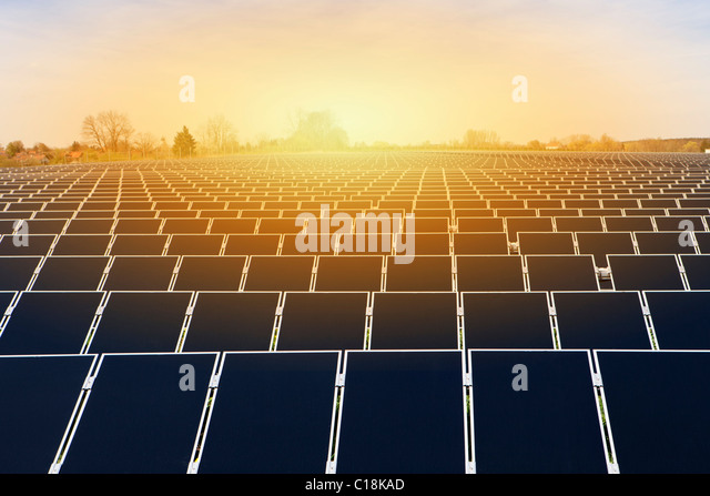 Large solar energy plant - Stock Image