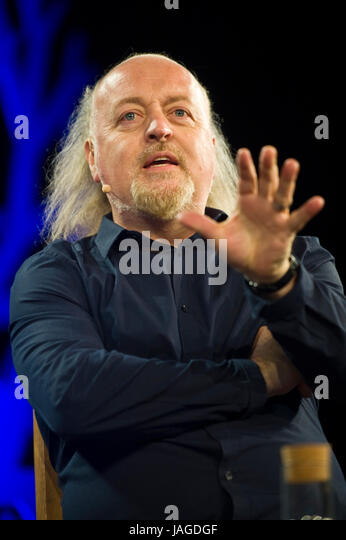 Bill Bailey comedian talking about his life & love of birdwatching on stage at Hay Festival 2017 Hay-on-Wye - Stock Image