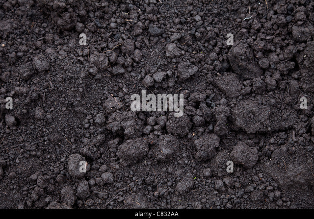 black soil for Textured Background - Stock-Bilder