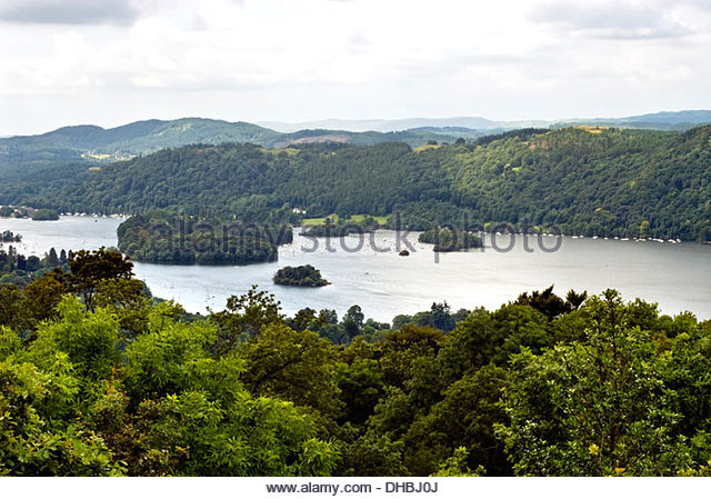 Landscape at the Lake District, also known as The Lakes or Lakeland, Lake District - Stock-Bilder