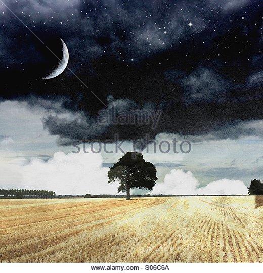 Night & day - Stock Image