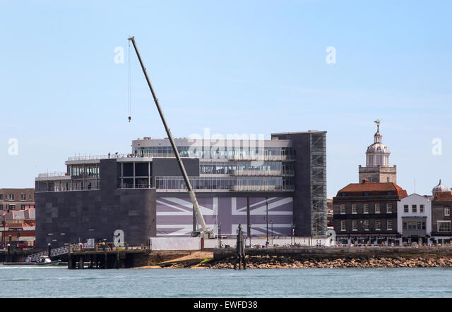 Ben Ainslie Racing BAR Head Quarters in Portsmouth - Stock Image