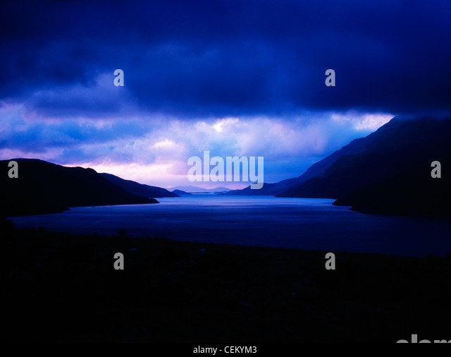 Water Scenic From County Galway, Ireland - Stock Image