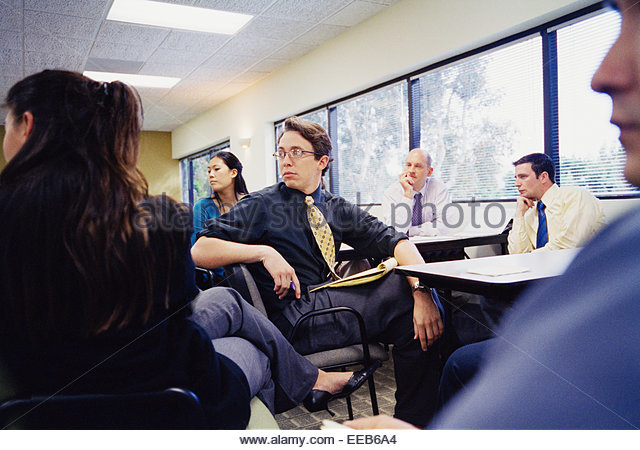 Businesspeople at a Seminar - Stock Image