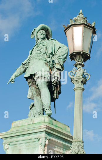 Statue of King Gustavus Adolphus of Sweden, in Gustavus Adolphus Square, Gothenburg, Sweden. - Stock Image