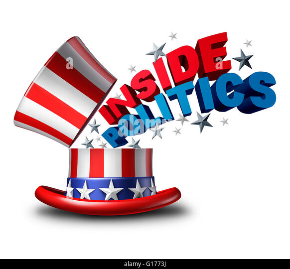Inside politics American election and United States of America vote symbol as a USA political news insider journalism - Stock Image
