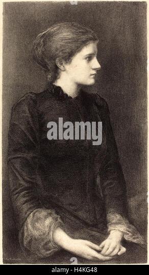 M.G. Fuchs after Sir Edward Coley Burne-Jones, Mrs. Bonham, active c. 1890-1910, c. 1902, lithograph on wove paper - Stock-Bilder