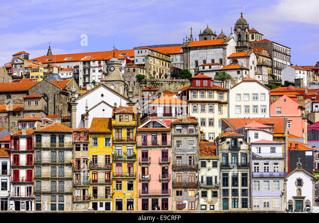 Porto, Portugal cityscape across the Douro River. - Stock-Bilder