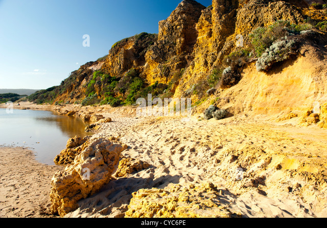 Views along the Great Ocean Road in Victoria, Australia - Stock Image